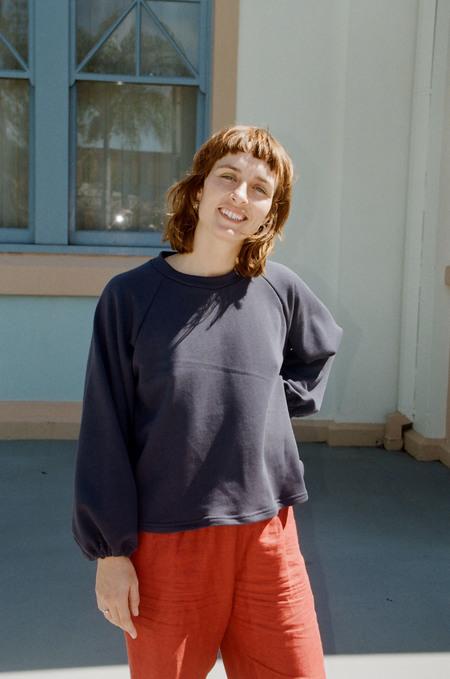 Mimi Holvast Scrunchie Raglan pullover - Navy