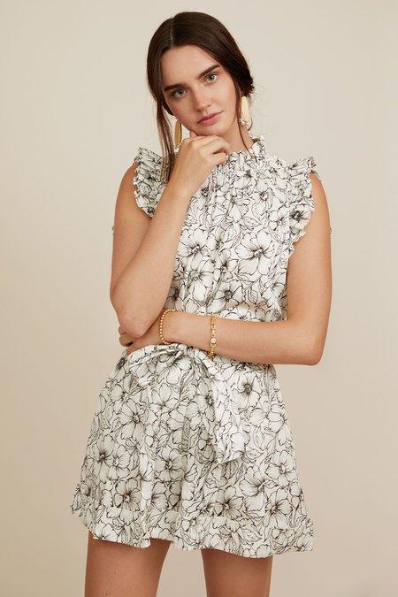CHRISTY LYNN Diandra Short - Etched Floral
