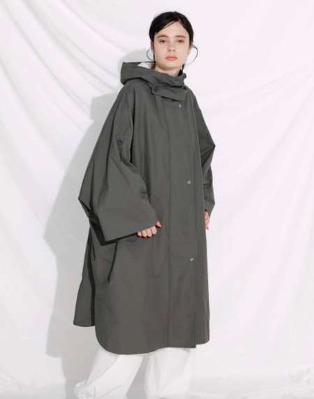 F/CE WATER-REPELLENT PONCHO - Charcoal