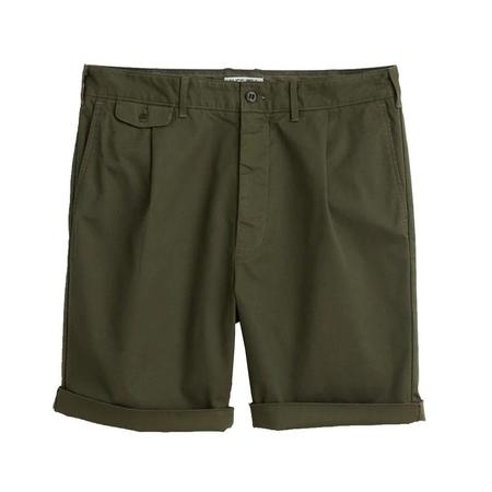 Alex Mill Pleated Chino Shorts - MILITARY OLIVE