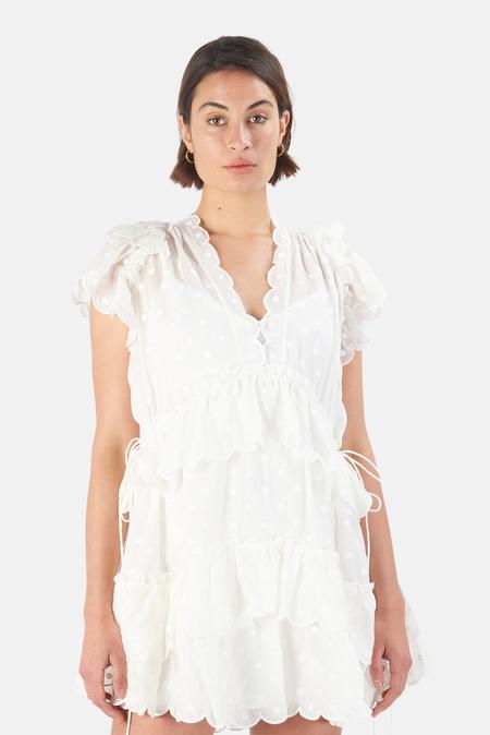 Zimmermann Mae Dot Mini Dress - Ivory