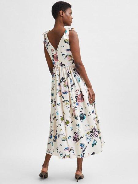 Selected Femme Garden Dress - Sandshell