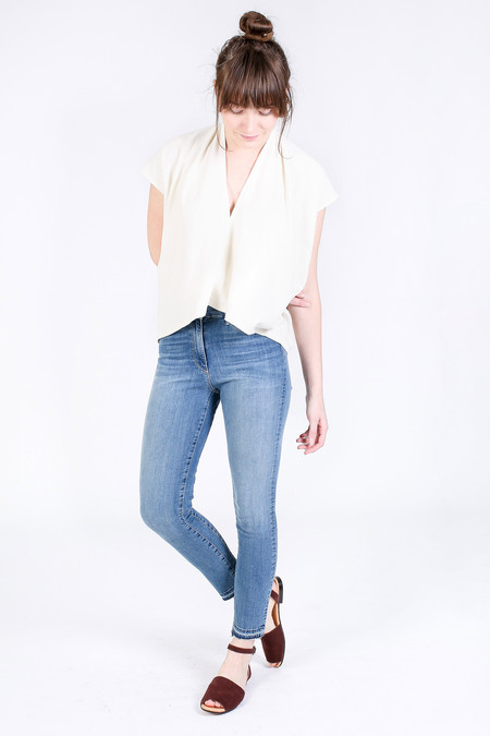 3x1 Channel Seam High Rise Crop Skinny in Meadowbrook