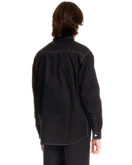 MISBHV Contrast Stitching shirt - black
