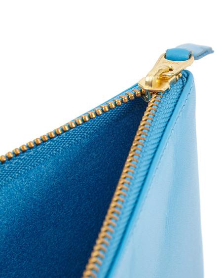 Comme des Garçons Leather Clutch Wallet - Light blue