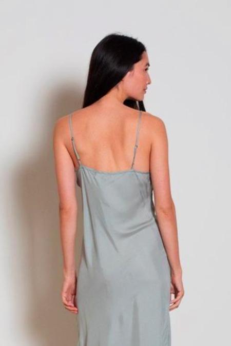 Natalie Martin Grier Short Slip Dress - Sage