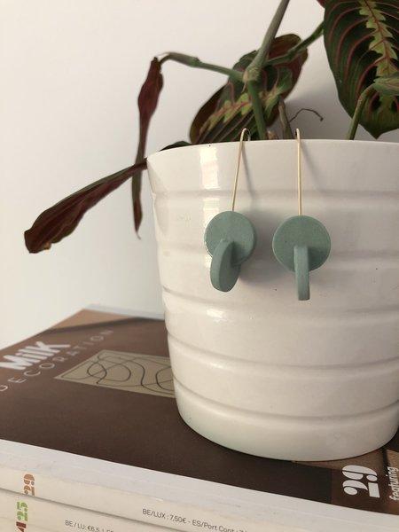 amber e lea Double Circle Earrings - Sage