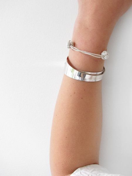Kat Seale Medium Cuff - Silver