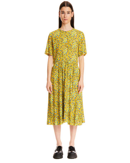 A.P.C. Dress with Flowers Print - Yellow