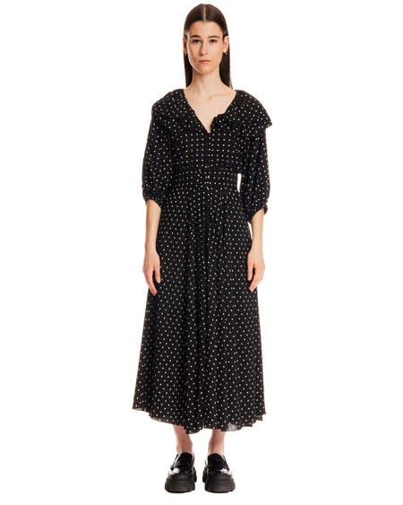 Rotate Pois Ellie Dress - Black