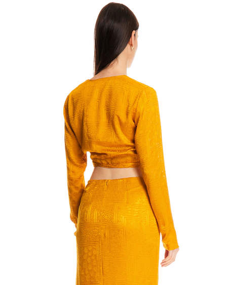 Rotate Long Sleeve Blouse - Ochre