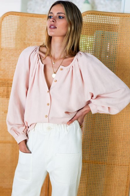 Emerson Fry Frances Blouse - Shell Pink