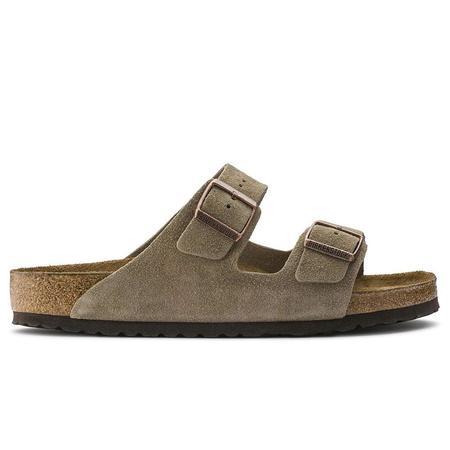 Birkenstock Arizona Soft Footbed Regular Suede Leather sandals - Taupe