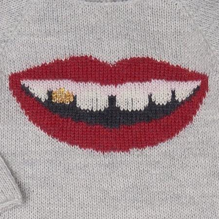 KIDS Oeuf Gold Tooth Sweater - GREY