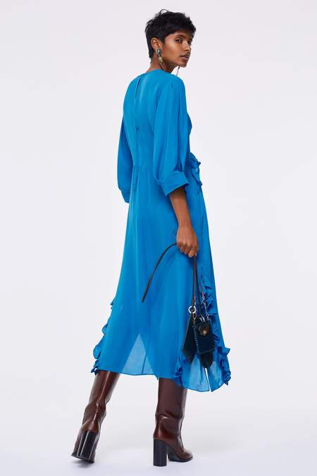 Dorothee Schumacher Fluid Luxury Dress - Vibrant Blue