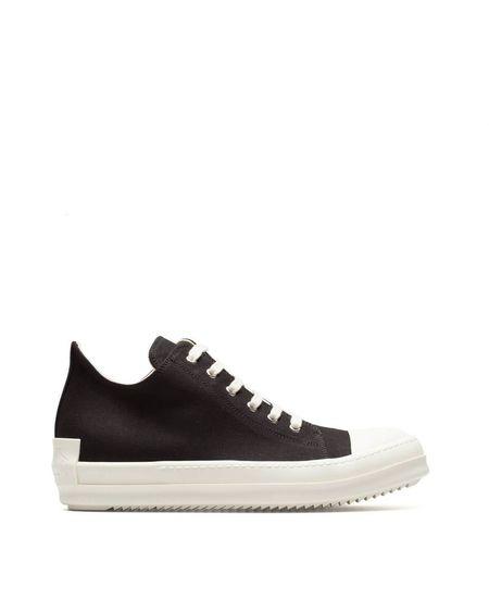 Rick Owens DRKSHDW Low Top Fabric Sneakers - black