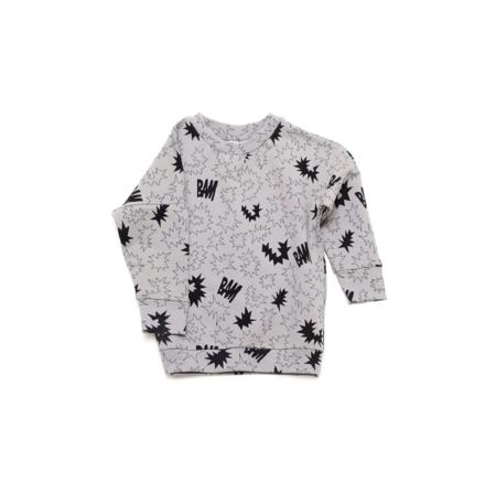 KIDS LITTLE MAN HAPPY Bam Sweater - GREY