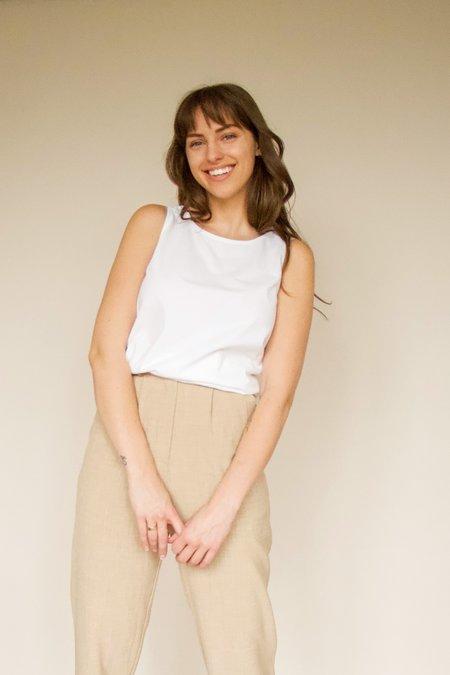 beaumont organic THEA Organic Cotton Tank - white