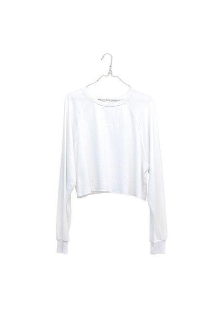 Raw Edge Raglan Sweatshirt