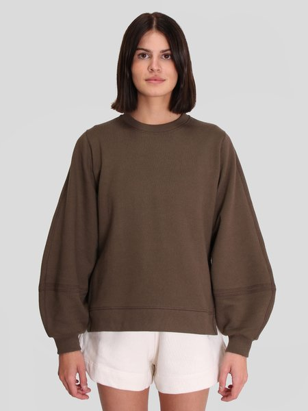 Ganni Puff Sleeves Sweatshirt - Kalamta