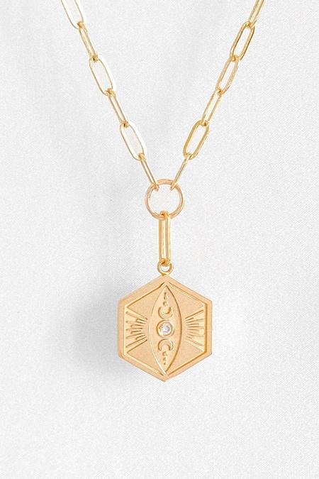 Thatch Divine Feminine Link Necklace - Gold