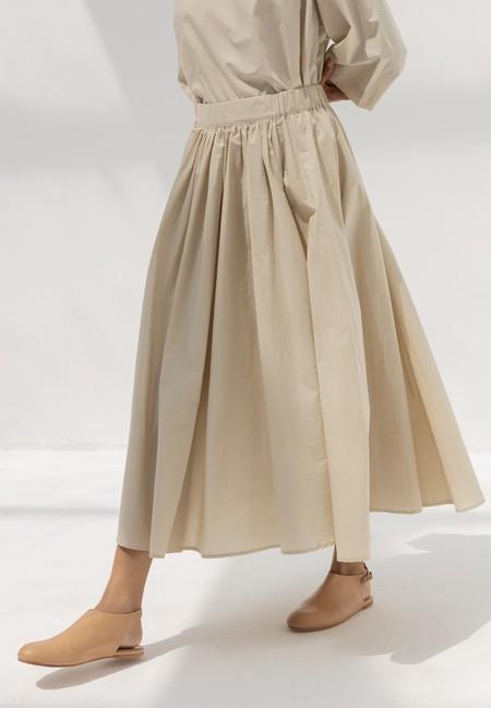 Black Crane Petal Skirt - Cloud
