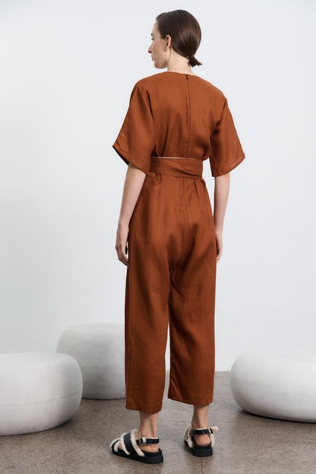 Milk & Thistle Willow Jumpsuit - Toffee