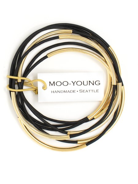 MOO-YOUNG Skinny Leather Bangles