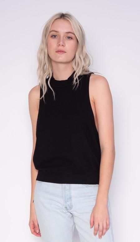Stateside Sleeveless Terry Sweatshirt - black