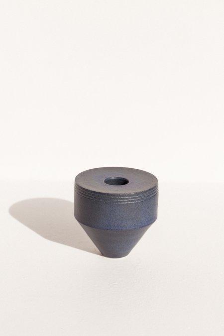Alison Frith Ceramic sculpture - Shibori Blue