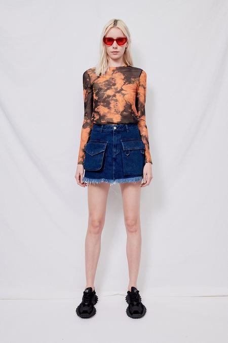 MARQUES ' ALMEIDA Classic Denim Patch Pocket Mini Skirt - Blue