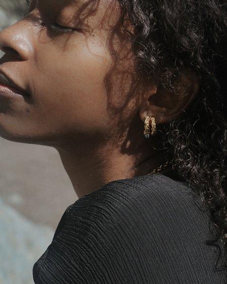 Pamela Love Braided Hoop Earrings - 14k yellow gold plat