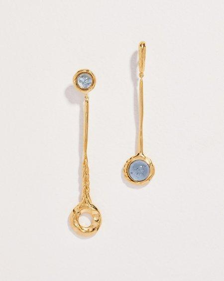 Pamela Love Braided Pendulum Earrings - 14k yellow gold plate