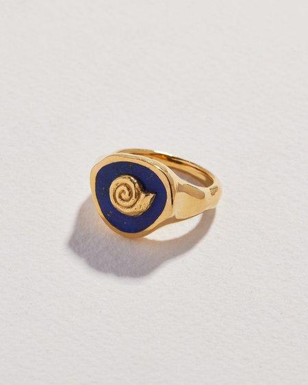 Pamela Love Seashell Signet Ring - 14k gold/sterling silver,