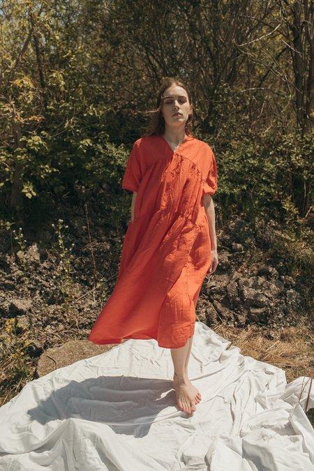 Atelier Delphine Lihue Dress - Tangerine