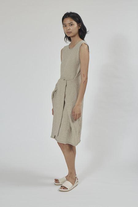 Lauren Manoogian Tie Dress - Greige