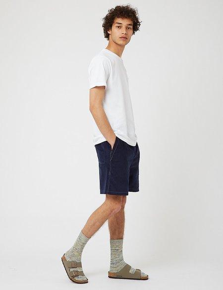 Bhode x Brisbane Moss Cord Needle Cord Shorts - Navy Blue