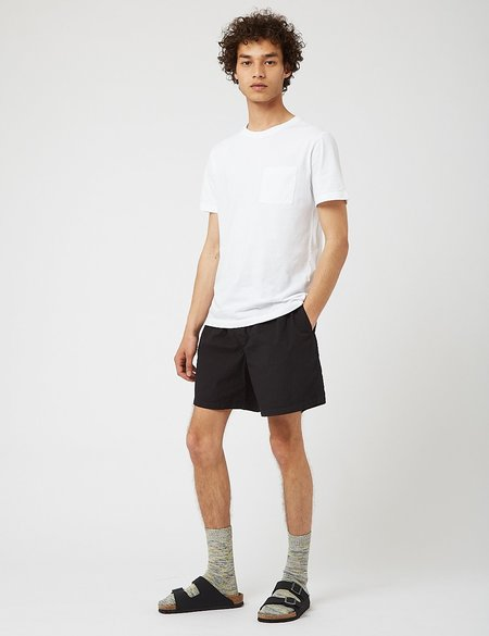 Bhode Drawstring Seersucker Shorts - Black