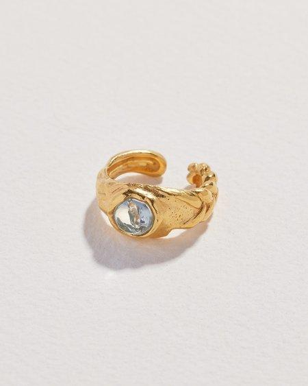 Pamela Love Braided Stone Ear Cuff - 14k yellow gold plate