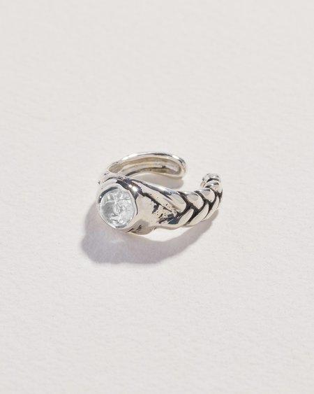 Pamela Love Braided Stone Ear Cuff - sterling silver