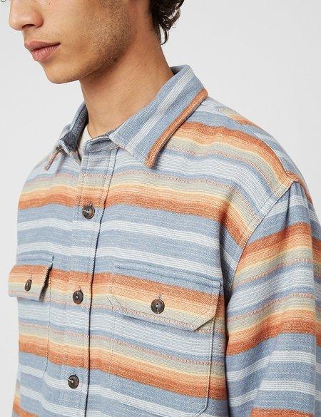 Pendleton Driftwood Shirt - Blue Stripe