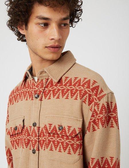 Pendleton Driftwood Shirt - Tan/Red