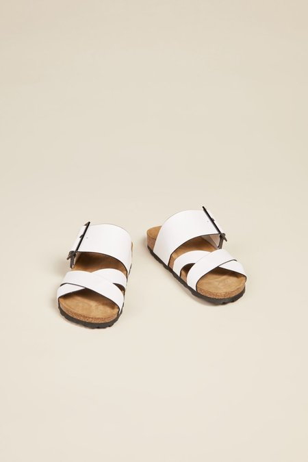 """""""INTENTIONALLY __________."""" Meredith Sandals - White"""