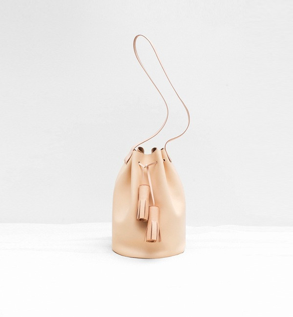 Building Block Nude Bucket Bag