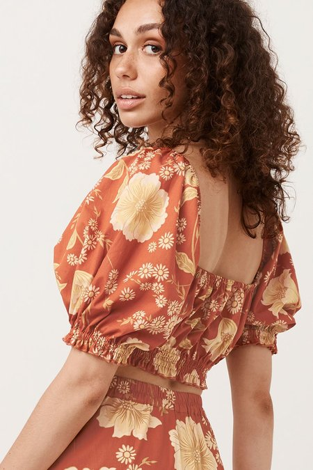 SPELL & THE GYPSY COLLECTIVE Sloan Cropped Top - Ochre