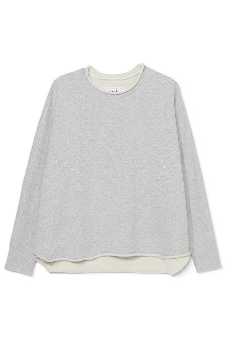 Tee Lab Long Sleeve Capelet - Gray Melange