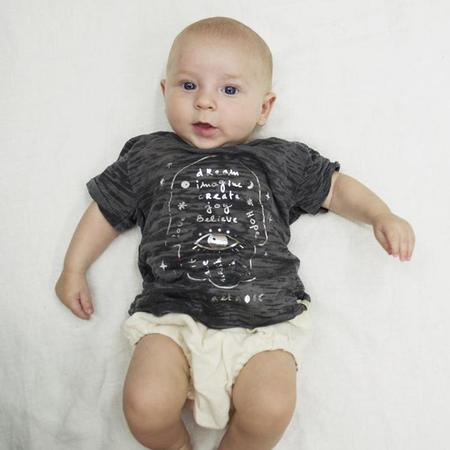 KIDS Atsuyo Et Akiko Baby Hamsa Tri-Blend T-shirt - Black
