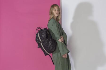 Kempton & Co. Canvas Backpack - Black Camo