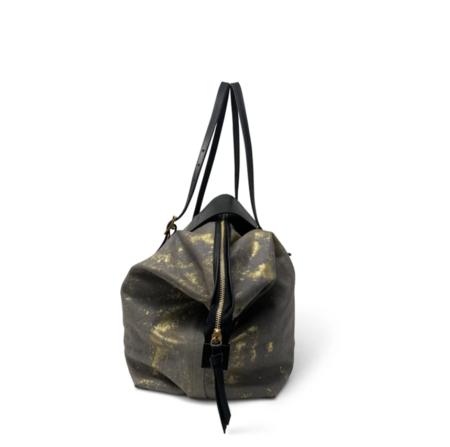 Kempton & Co. Henley Fold Up tote - Smoke Gold Splatter