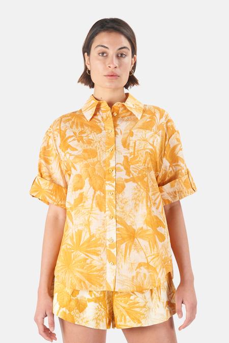 Zimmermann Mae Cuffed Shirt - Amber Palm